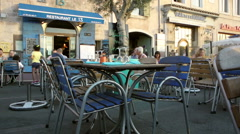 French restaurant in Marseille Stock Footage