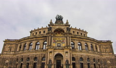 The Semper Opera House in Dresden Stock Footage