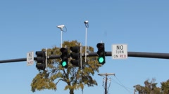 No Turn On Red Stock Footage