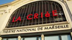 Facade od Theatre national de Marseille - La Criee Stock Footage