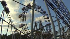 The famous big wheel in Vienna Prater Stock Footage