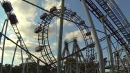 Stock Video Footage of the famous big wheel in Vienna Prater