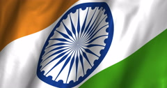 India Waving Flag-4K Stock Footage