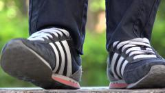 Tapping Sneakers, Athletic Shoes, Footwear Stock Footage