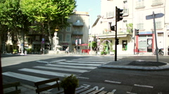 French street in the morning Stock Footage