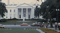 Washington 1973: traffic in front of the White House Stock Footage
