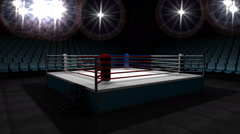 Boxing ring. Stock Footage