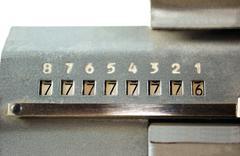 Scoreboard adding machine - stock photo