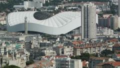 Stade Velodrome, Marseille, France, Aerial view Stock Footage