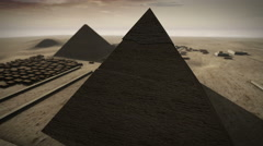 Giza platform Egypt animation in 3D 4K Stock Footage