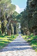 Via Appia Antica Rome Stock Photos
