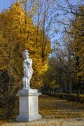 View of the Schonbrunn gardens in autumn,  Austria - stock photo