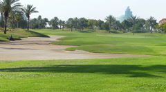 Perfect golf resort in Dubai Stock Footage