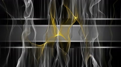 Fantastic animation with wave object and background in motion, loop HD 1080p Stock Footage