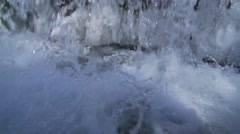 Waterfall background with icicles crashed spectacular super slow motion Stock Footage