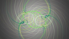 Fantastic eco video animation with stripe object in motion, loop HD 1080p Stock Footage