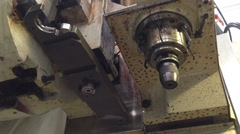 Cnc machine tese runing Stock Footage
