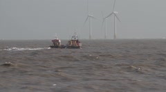 Caister and Lowestoft lifeboats  - stock footage