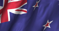 New Zealand Waving Flag-4K Stock Footage
