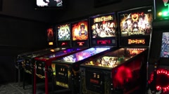 Pinball Machines close up Stock Footage
