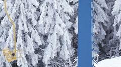 Part of ski lift Stock Footage