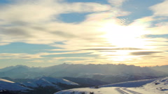 Timelapse sunset in the mountains, Circumhorizontal arc, Northern Caucasus Stock Footage