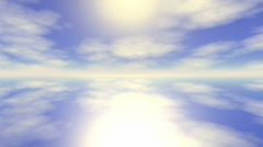 Clouds sunset blue sky Stock Footage