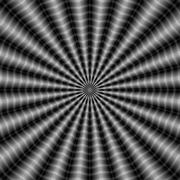 Stock Illustration of Rippling Rays in Monochrome