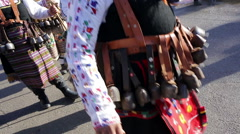 Surva mask costume festival carnival Stock Footage