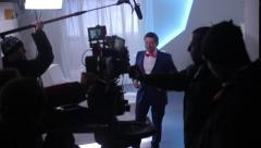 the actor starred in the promotional video. Film shooting - stock footage