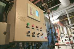 control panel to manage the boiler - stock photo
