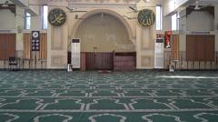 Mosque (Masjid) inside Shot-Empty Stock Footage
