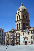 Basilica of San Francisco in La Paz, Bolivia Stock Photos