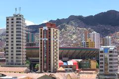 Stadium Estadio Hernando Siles in La Paz, Bolivia Stock Photos
