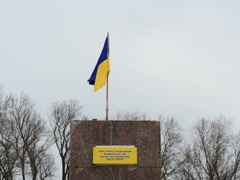 Ukrainian flag. Related clips are in my portfolio in 1920x1080. Stock Footage