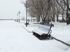 Park and snow. Related clips are in my portfolio in 1920x1080. Stock Footage