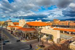 View of Alvarado Transportation Center, in Albuquerque, New Mexico. - stock photo