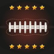 Background of American Football ball. Vector Stock Illustration