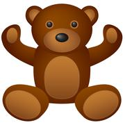 Teddy bear toy 2 Stock Illustration