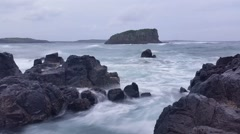 Moody Storm Waves Ocean Dreamy Seascape - stock footage