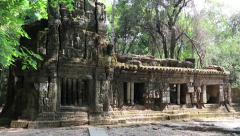 Structure in Angkor Thom temple complex in Cambodia Stock Footage
