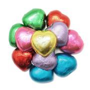 Heart shape of chocolate Stock Photos