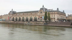 D'Orsay museum building in Paris, France Stock Footage