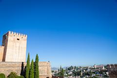 Granada panorama - stock photo