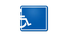 Handicap Sign Animated Graphic Stock Footage