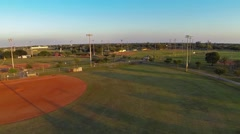 Tamiami Baseball Fields Clip 9 Stock Footage