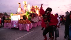 Carnival Float and Character Dance Stock Footage