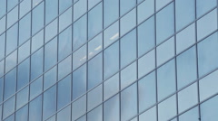 Glass Office Building Facade - Vertical Pan Move Stock Footage