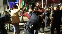 Police Arrest Men at Carnival in Panama City, Panama Mardi Gras Stock Footage