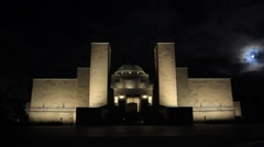 Canberra, Australian War Memorial - Time Lapse Stock Footage